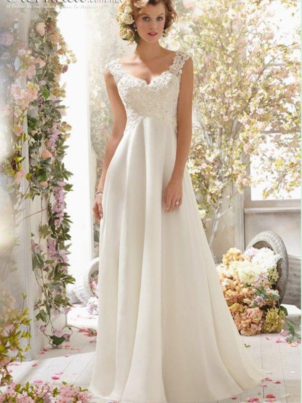 vestido de novia jeannette en 2019 | novias | wedding dress chiffon