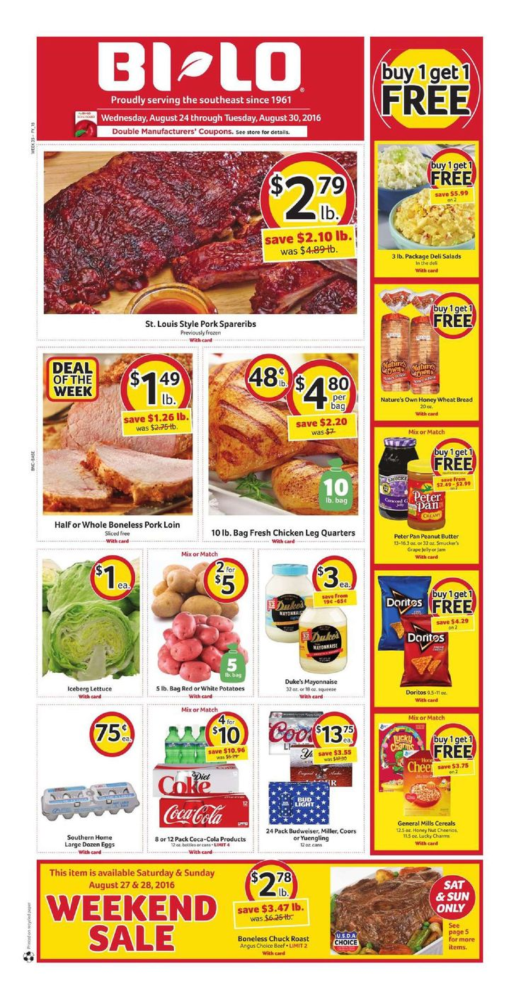 Bilo Weekly Ad August 24 - 30, 2016…