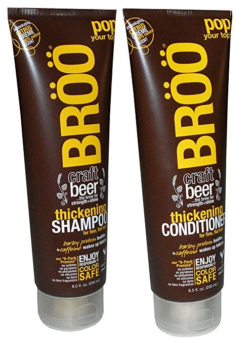 BROO CRAFT BEER THICKENING SHAMPOO AND CONDITIONER CITRUS CREME 100 PERCENTS NATURAL SCENT COLOR SAFE AND VEGAN #style #fashion #trend #onlineshop #shoptagr