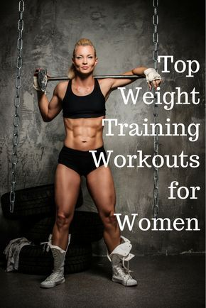 Top weight training workouts for women. Strong women need weight lifting workouts like these. Weight lifting for female beginners too.