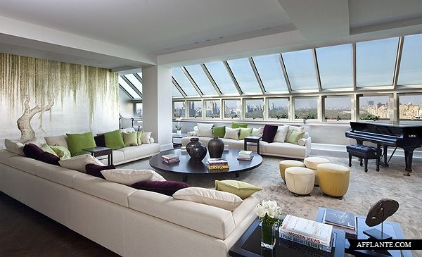 Opulence without being gaudy. That view of Central Park is epic. Central Park South Penthouse. New York.