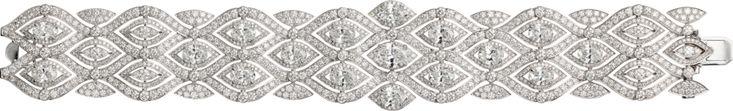 CARTIER. Bracelet - white gold, oval-shaped diamonds, brilliant-cut diamonds. #Cartier #RésonancesDeCartier #2017 #HighJewellery #HauteJoaillerie #FineJewelry #Diamond