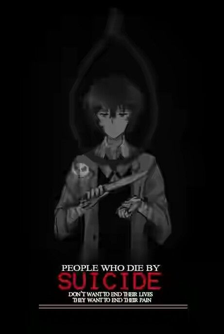"""""""people who die by suicide don't want to end their lives they want to end their pain """"  Anime ; Bungou Stray Dogs"""