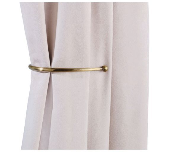 Buy HOME Pair of J-Shaped Curtain Holdbacks - Antique Brass at Argos.co.uk, visit Argos.co.uk to shop online for Blind and curtain accessories, Blinds, curtains and accessories, Home furnishings, Home and garden
