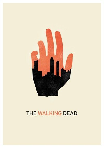 The Walking Dead minimalist poster 2