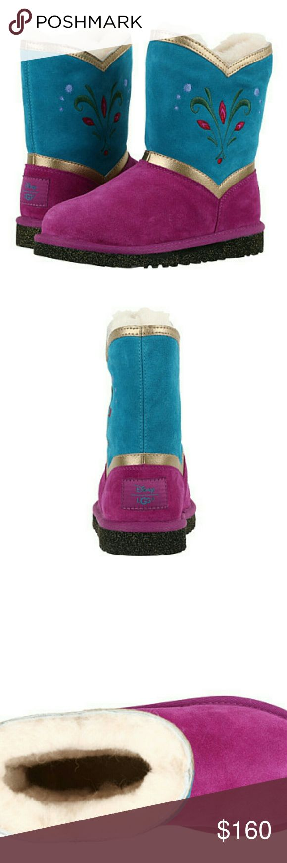 New Ugg 'Elsa Coronation' BRAND NEW 100% authentic pair of ' Ellee Leather ' Ugg boots.  I have sizes 3Y little kid and 4Y big kid.  They are both brand new and come with the original box, wrapping paper and authenticity cards! I originally paid 185$ .   If you have any questions please let me know thank you!     tags: boots boot bootie uggs Australia butte warm shoes youth kids 2.5 3 3.5 marmot adidas Canada goose Northface nike warm weather Shoes Boots