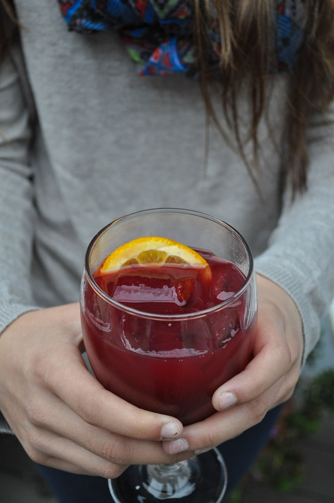 Sangria-like Country Orchard created by BACARDI Mixers | farmgirlgourmet.com