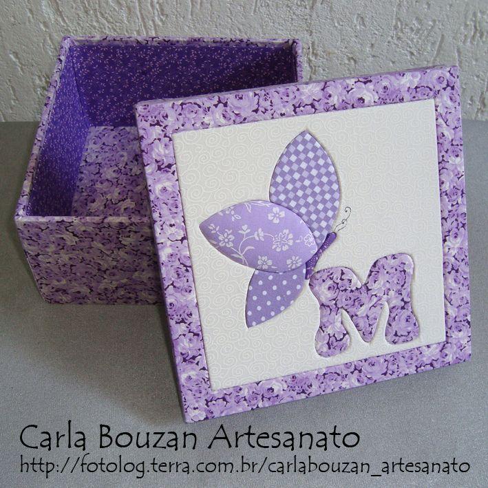 Caixinha borboleta | Caixa 16x16 cm em patchwork embutido (c… | Flickr