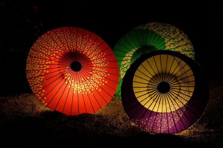 japanese umbrella lighting