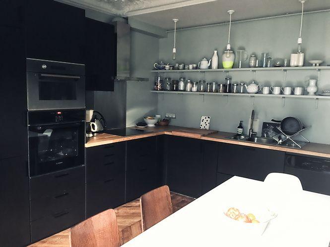 Les 25 meilleures id es concernant facade cuisine ikea sur for Cuisine facade noire