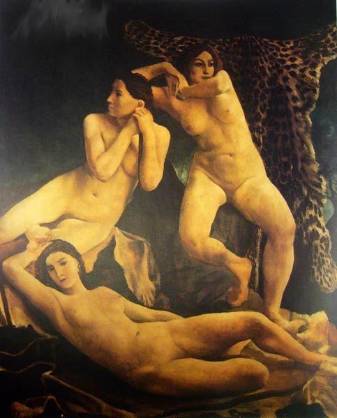 Ubaldo Oppi: Amazzoni 1924
