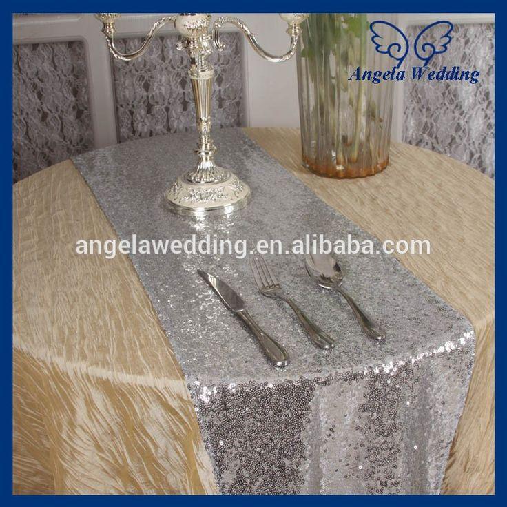 ru017a custom made wedding popular silver sequin table runnerin table runner from home u0026