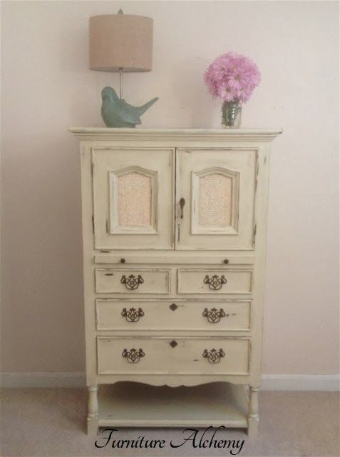 Paris Themed Paper, Annie Sloan Chalk Paint and A Lot Of Work By Furniture Alchemy Transformed An Old Ugly Secretary Desk - Featured On Furn...