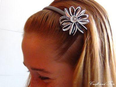 Riciclo Creativo - Craft and Fun: Accessori per capelli Fai da Te: Riciclo Creativo
