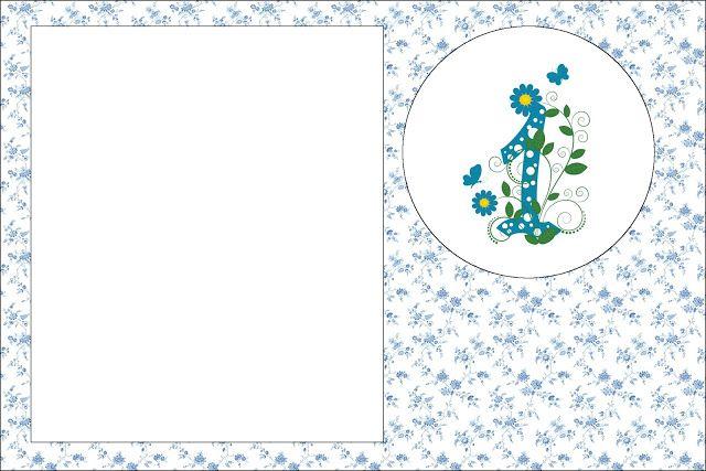 1 Ano Meninos Provençal Azul - Kit Completo com molduras para convites, rótulos para guloseimas, lembrancinhas e imagens!