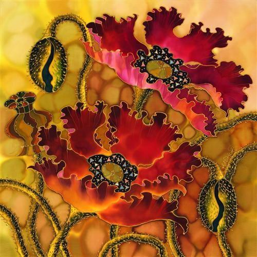 Beautiful Silk Painting by Yelena Sidorova