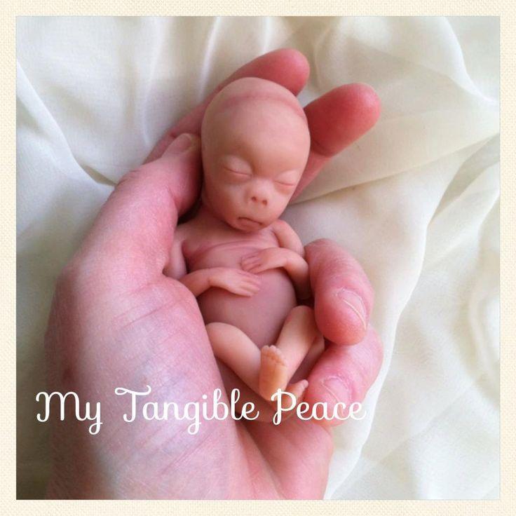 ooak 13 week baby Memorial/Honor Sculpture  by mytangiblepeace, $60.00