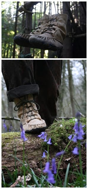 Learn how to make your own moccasin boots with this great tutorial. Wilderness Survival Skills and Bushcraft Antics website shares how to make moccasin boo
