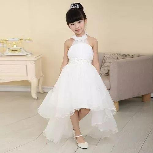 vestido dama niña cocktel graduación fiesta blanco