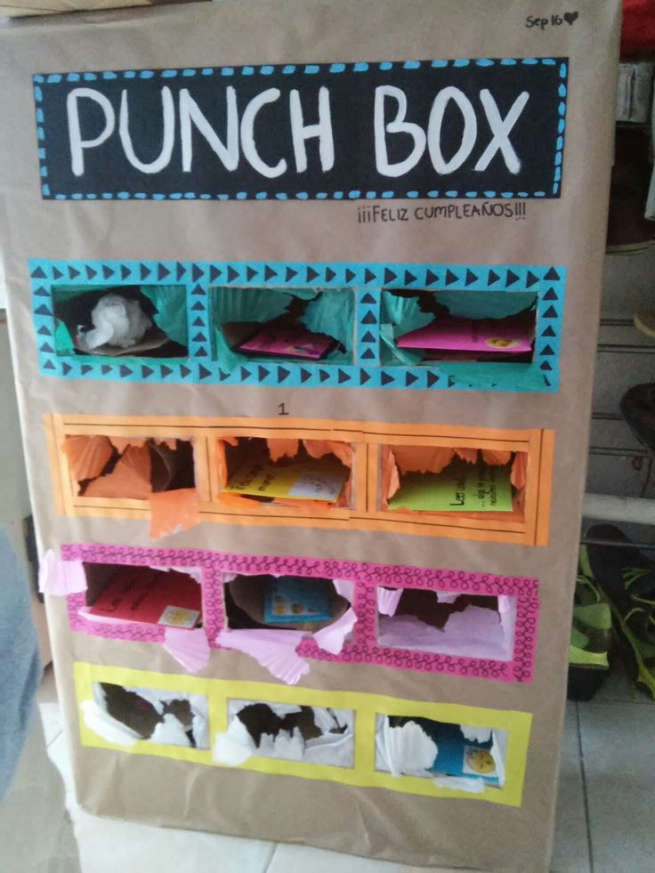 Punch box: Caja de sorpresas, descubre lo que hay dentro con un puño, ideas para sorprender a alguien especial en su cumpleaños