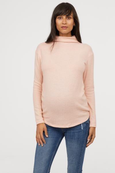 481220efd1 MAMA Fine-knit Sweater - Powder pink - Ladies