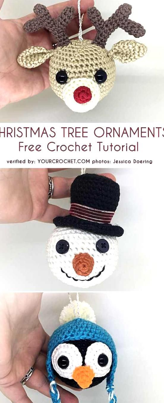 Your Crochet Christmas 2020 Christmas Tree Ornaments Free Crochet Patterns Your Crochet in