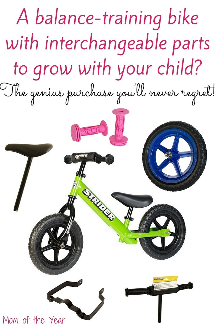 This balance-training bike has been a blessing for my cautious learning-to-ride son. And the interchangeable parts that can be switched out as he grows? Genius and saves us a ton instead of having to buy a whole new bike! Get the scoop on how these work & you'll fall for them too!