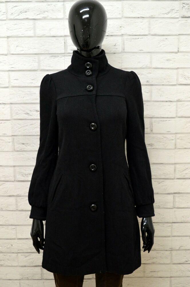 cappotto nero donna denny rose