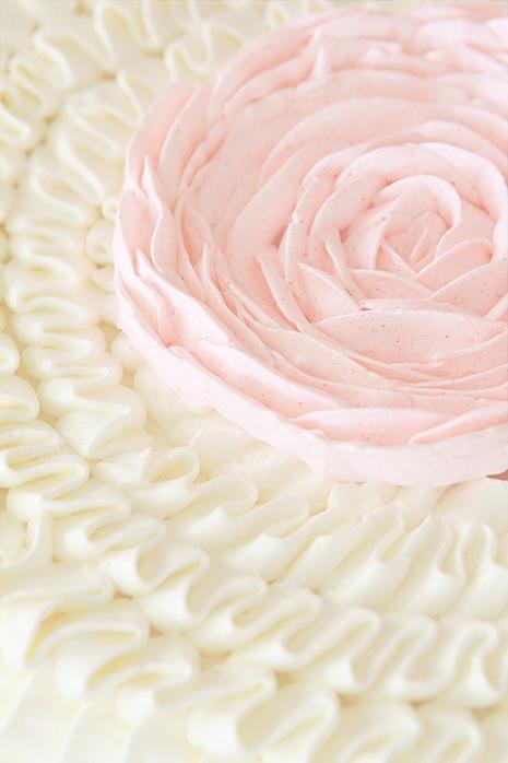 Pretty Ruffle Cake from @Sara Baker Royale dessert