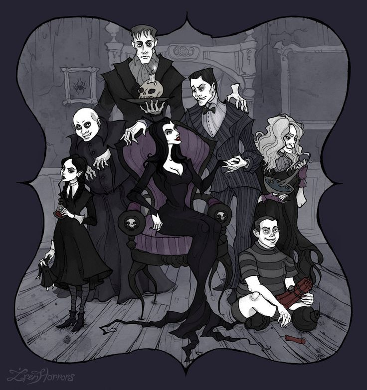 The Addams Family by IrenHorrors.deviantart.com on @DeviantArt