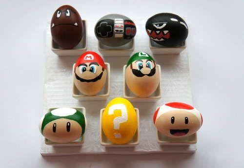 cute - Mario brothers Easter eggsGeek, Easteregg, Supermario, Super Mario Brother, Easter Eggs, Kids, Super Mario Bros, Eggs Decor, Crafts