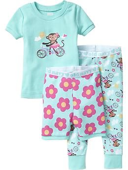 Monkey on a bike!! Graphic 3-Piece PJ Sets for Baby | Old Navy