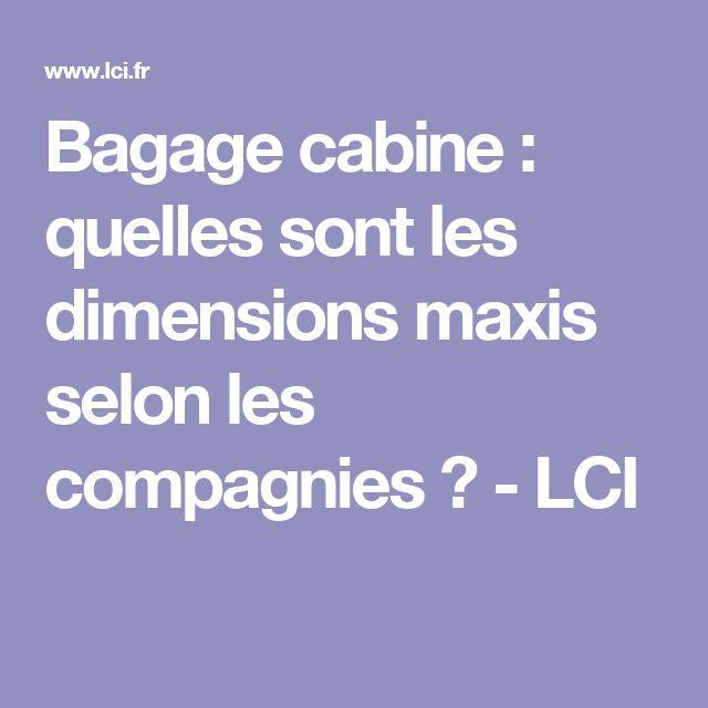Bagage cabine : quelles sont les dimensions maxis selon les compagnies ? - LCI