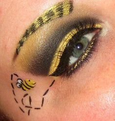 bee face painting for eyes