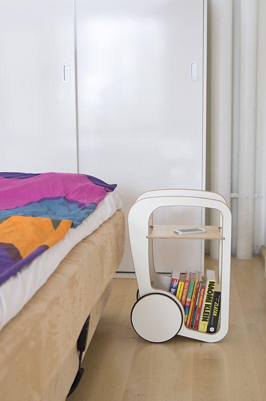 white Fleimio Mini as a bedside table.