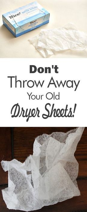 Looking for new ways to use your old dryer sheets? Look no further, here's how you can put those dryer sheets to good use.