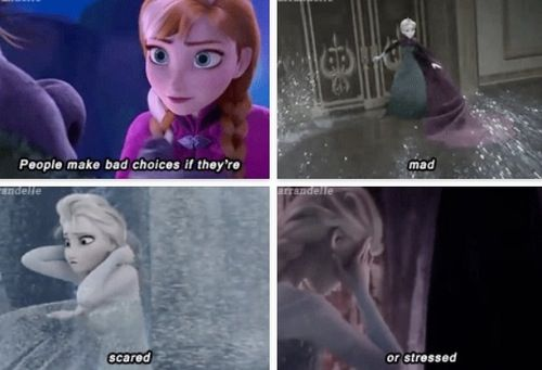 Frozen. This is what I always think of when this part of the song plays.