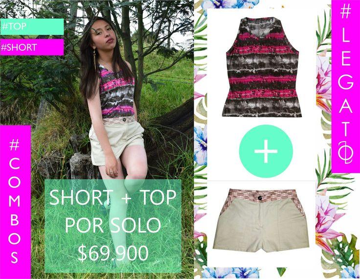 Más combos!!!!! Short +blusa combina tu combo como quieras!!!!  #hechoencolombia #woman #top #short #combos