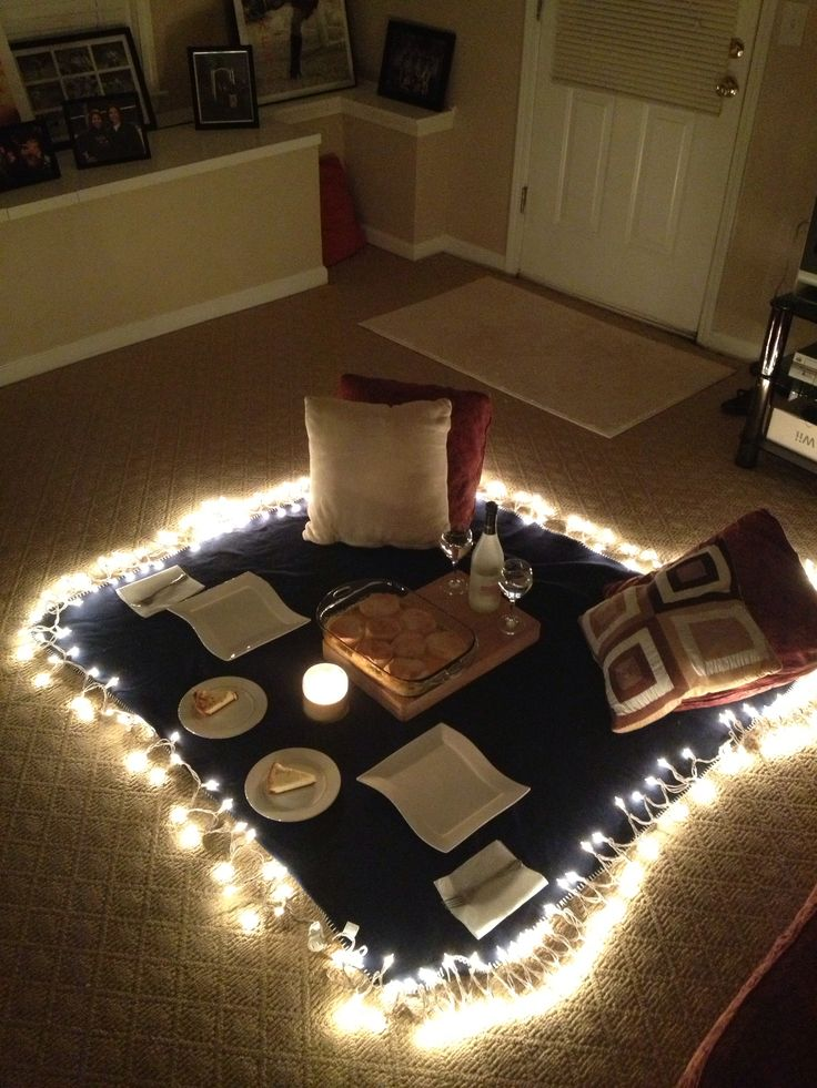 Indoor picnic for JB
