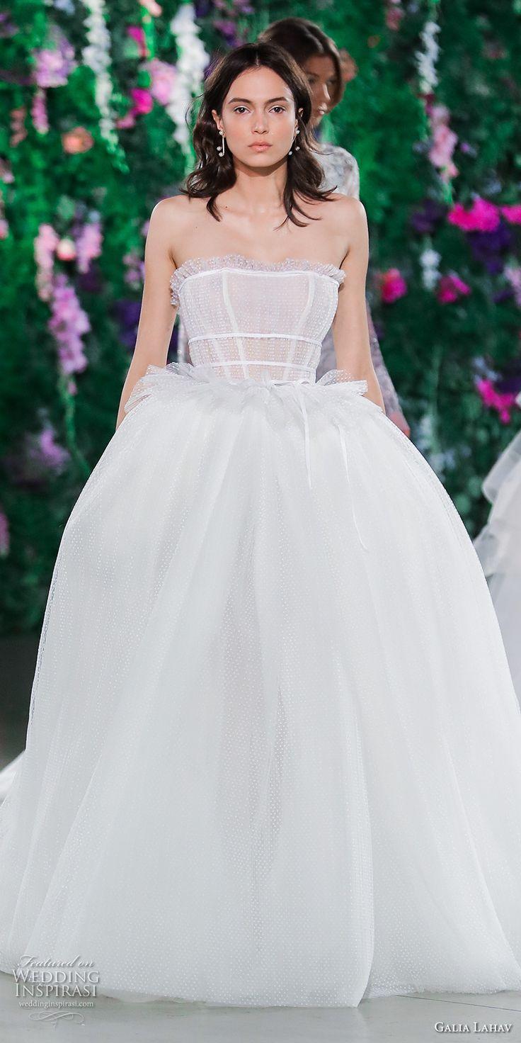 galia lahav fall 2018 bridal straight across heavily embellished bodice romantic ball gown a  line wedding dress (17) mv -- Galia Lahav Couture Fall 2018 Bridal Runway Show