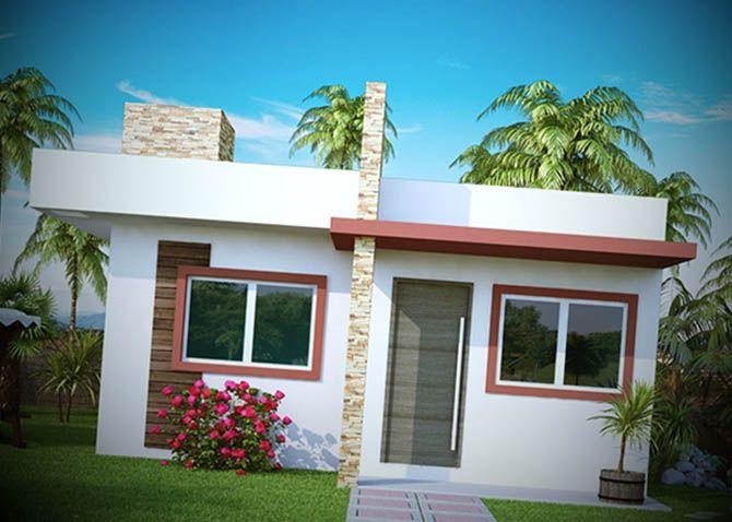 12 fachadas de casas pequenas quintal varanda e jardins for Casas super modernas fotos