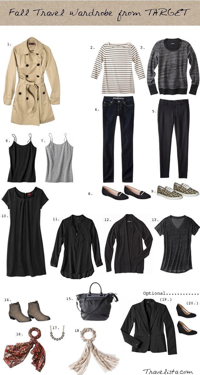Fall travel wardrobe from Target.