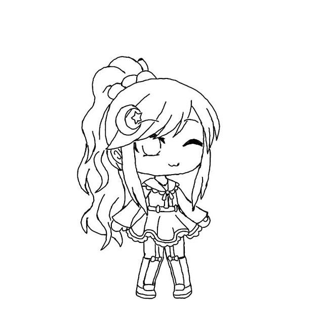 Intense Coloring Pages Of Bex From Gacha Coloring Pages Of Gacha Characters Chibi Coloring Pages Cartoon Coloring Pages Cute Cartoon Drawings