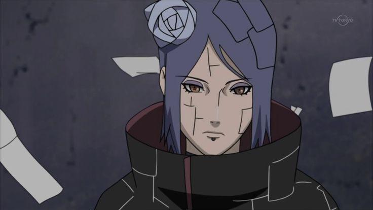 Konan from Naruto Akatsuki, Anime naruto