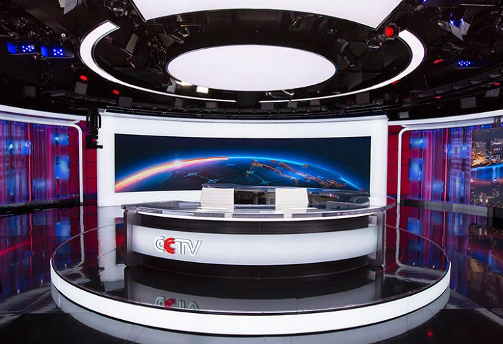 1 | With Glittering New Set Design, CCTV News Takes Aim At The World | Co.Design | business + design