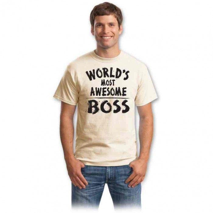 Cadouri pentru sefi – Tricou World most awesome boss