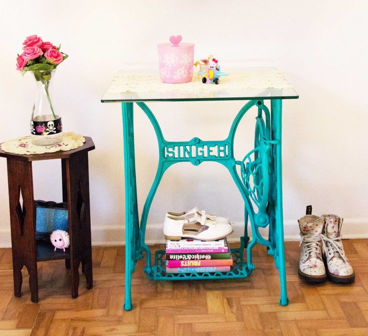 IMG 1218 1024x935 Mesa de máquina de costura pintada   DIY