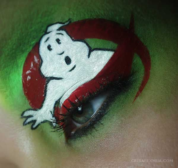 Ghostbusters inspired eye makeup for the 30th Anniversary