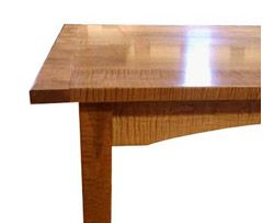 shaker style hand crafted furniture dining tables shaker farm table in tiger maple - Shaker Kitchen Table