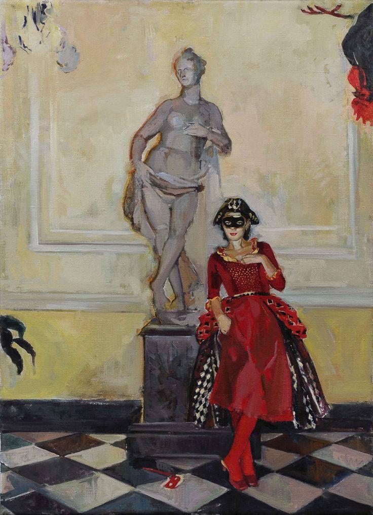 #искусство КОЛОМБИНА И #ПЕТУХ #dell'arte #Columbine #art #водворце #Петербург 50 000 #руб Подробнее  https://goo.gl/8M6VFM